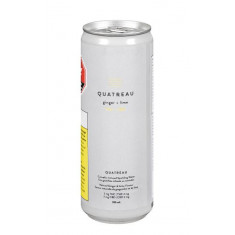 Quatreau - Ginger & Lime Sparkling Water - 1 x 355ml
