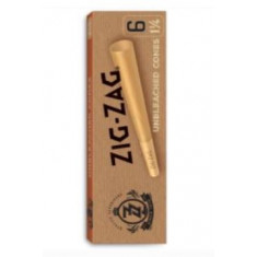 Zig Zag Pre-Rolled Cones - Unbleached 1 1/4 x 6